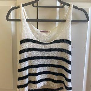 LF Sleeveless Stripe Knit Top